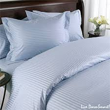 light blue stripe twin duvet cover set 100 cotton 300 thread count