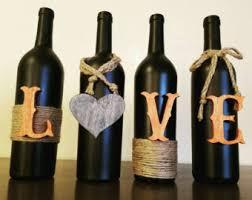 Wine Bottle Home Decor Upcycled Wine Bottle Etsy