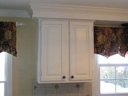how to trim out cabinets crown molding finally done kitchen soffit above kitchen