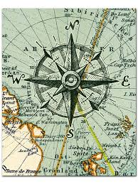 nautical map nautical map compass print compass on map poster nautical