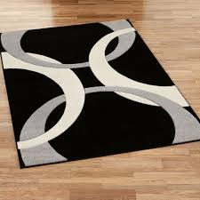 Black And White Modern Rugs Corfu Contemporary Black Area Rugs