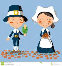 thanksgiving pilgrims clipart thanksgiving day pilgrim couple stock photography image 16539902