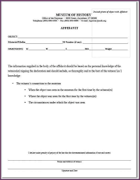 affidavit form sample affidavit form template sample affidavit