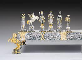 vichinghi guglielmo il conquistatore sec x gold and silver chess set