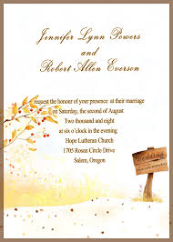 Invitations Cards Free Country Side Style Gold Rustic Fall Cheap Wedding Invitations