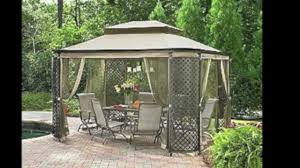 How To Build A Grill Gazebo by Jaclyn Smith Lattice Gazebo Replacement Canopy Youtube