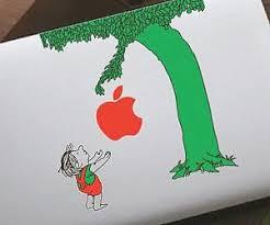 the giving tree macbook sticker