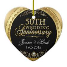 50th wedding anniversary ornaments zazzle ca