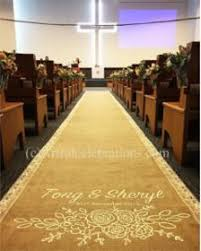 burlap wedding aisle runner aisle runners artful celebrations calligraphy painted