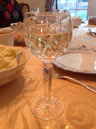 R Wine Cellar - glass of fiona chardonnay with thanksgiving dinner the fam loved