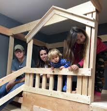 ana white diy basement indoor playground with monkey bars diy