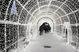 vancouver christmas light maze enchant christmas light maze and market stock photo image of 2016