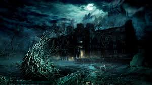 minecraft halloween background haunted house wallpaper for computer wallpapersafari
