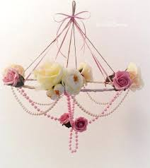 crystal chandelier nursery baby mobile shabby chic photography