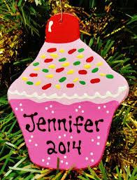 u choose name u0026 year personalized cupcake ornament christmas kids