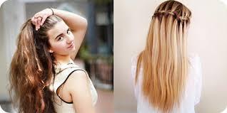 Einfache Frisuren Lange Glatte Haare by Einfache Frisuren Für Lange Haare Der Gepäckabgabeschalter