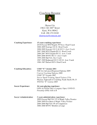 assistant soccer coach resume resume ideas