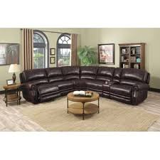 leather sectional sofas you u0027ll love wayfair