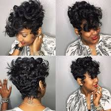 shortcut for black hair stylist feature love the waves and curls on this shortcut styled