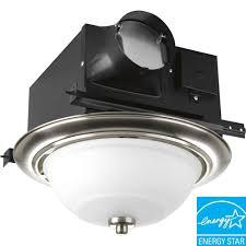 Bath Fan With Light Progress Lighting Brushed Nickel 2 Light Ventilation Fan With