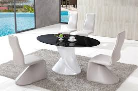 Oval Glass Dining Room Table Dining Table And Chairs Glass Dining Table Modenza Furniture