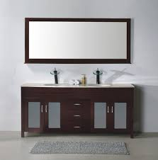 modern free standing twin bathroom vanity cabinets with center