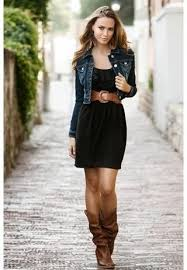 dresses with boots what are the best slightly cropped denim jackets for
