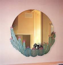 Decorative Mirrors For Bathrooms by Barrel Cactus Decorative Mirror With Etched Carved Design