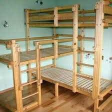 Make Wood Bunk Beds by Best 25 Pallet Bunk Beds Ideas On Pinterest Bunk Bed Mattress