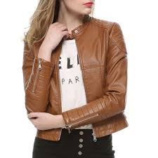ladies leather motorcycle jacket online get cheap ladies leather biker jacket aliexpress com