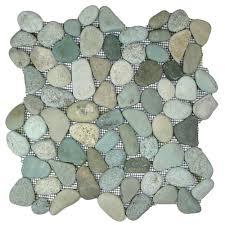 sea green pebble tile pebble tiles warm colors and subway tiles