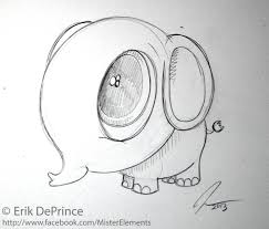 cute little elephant sketch by erikdeprince on deviantart