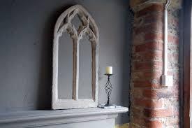 gothic church window frame mirrordouble arch ornate 32