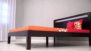 bed online in india bacon double bed mahogany finish online