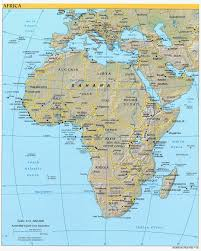 Political Map Of Africa by Large Detailed Political And Relief Map Of Africa Africa Large