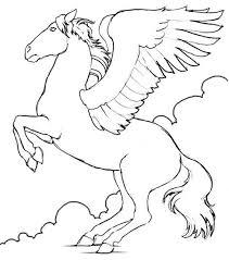 dessin de coloriage cheval à imprimer cp07280