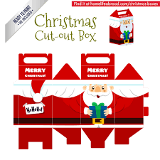 christmas boxes christmas santa cut out box with ready to print templates check