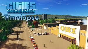 cities skylines building timelapse shopping area and
