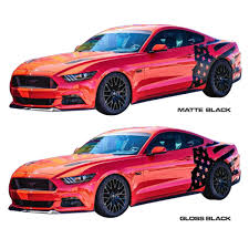 Us Flag Decal Mustang Side Decal Kit Tattered American Flag 2015 2017 Cj Pony
