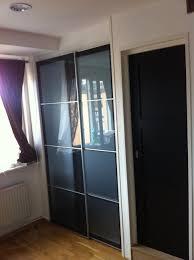 bedroom closet doors before and after spray paint closet door