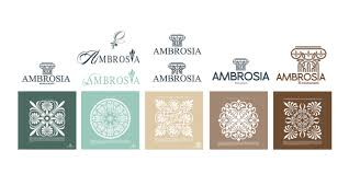 ambrosia restaurant logo design fourthedesign