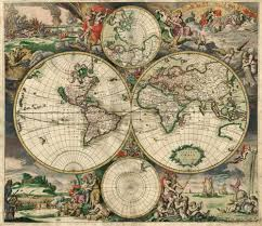 Giant Map Of The United States by Giant Old World Map Vintage Map Historic 1689 Antique Amsterdam