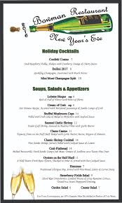 new year u0027s eve menu the bowman restaurant