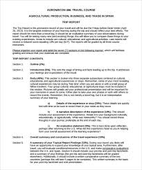 business trip report template business trip report template pdf sle trip report 9 documents