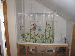Short Shower Curtain Rods Sloped Ceiling Shower Rod Home Ideas 2016