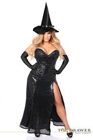 halloween costumes plus size top drawer plus size premium sequin witch corset costume