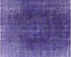 Area Rug 10 X 12 Overdyed Collection Oriental Purple Hand Knotted 10 U0027x12 U0027 Wool Area