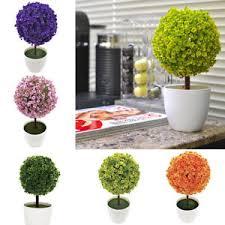 topiary mini artificial trees home decor plant pot ornament