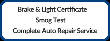 brake and light certificate brake and l inspection smog check smog test hawthorne