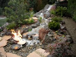 Small Backyard Water Feature Ideas Backyard Water Features With Fire Home Outdoor Decoration